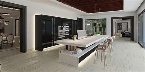 cuisine luxueuse luxueuse villa par ark architects san roque espagne