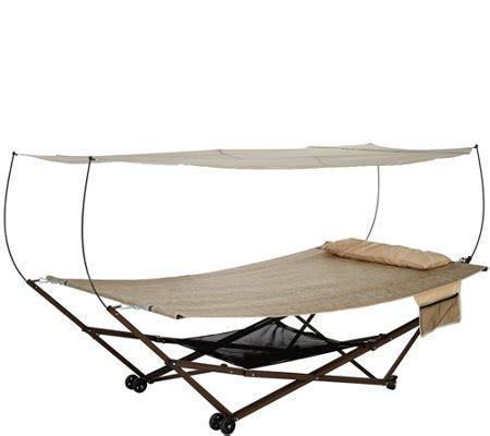 bliss hammocks  person ez stow hammock  canopy wheels  bag page  qvccom