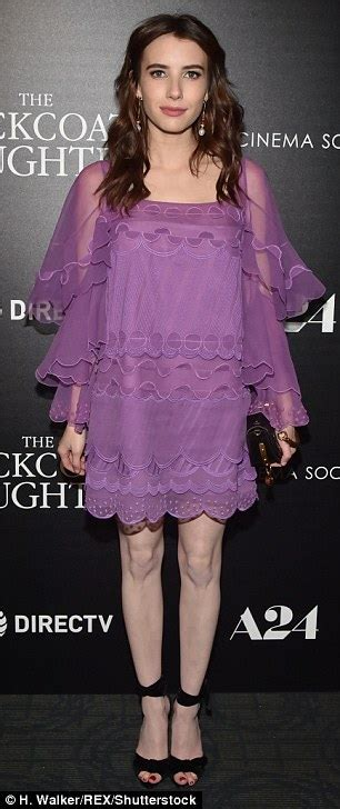 Emma Roberts stuns in purple dress for film premiere in NY ...