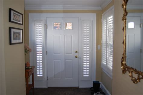 Front Door Sidelight Curtain Panels by Plantation Shutters Traditional Entry Boston By