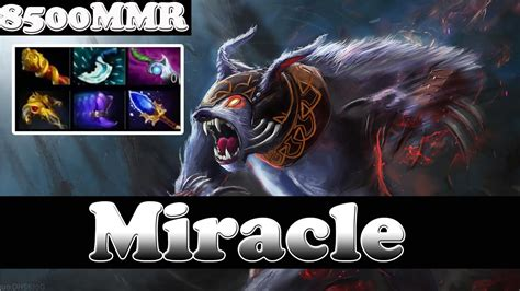 dota 2 miracle 8500 mmr plays ursa vol 8 ranked match gameplay youtube