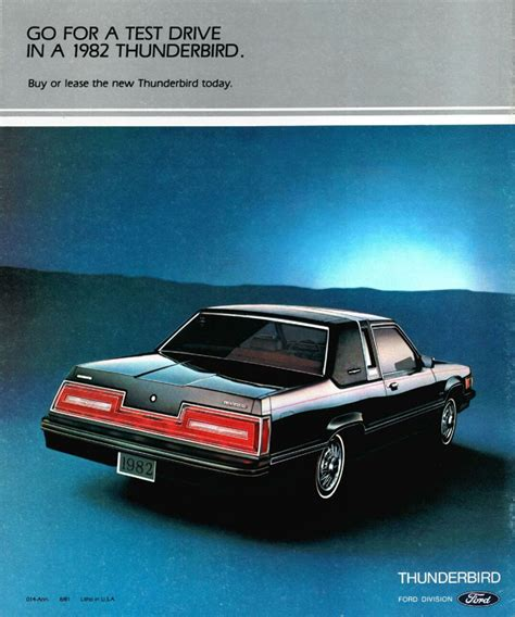 1982 ford thunderbird brochure