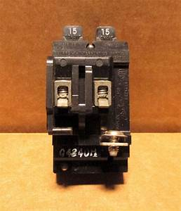 Ite 15    15 Amp Pushmatic Circuit Breaker Twin Pole  P1515