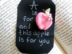 A is for apple…