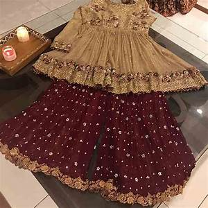 Pakistani wedding partywear sharara designs for little girls 17 FashionEven