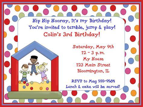 Free Printable Birthday Party Invitation Wording Example