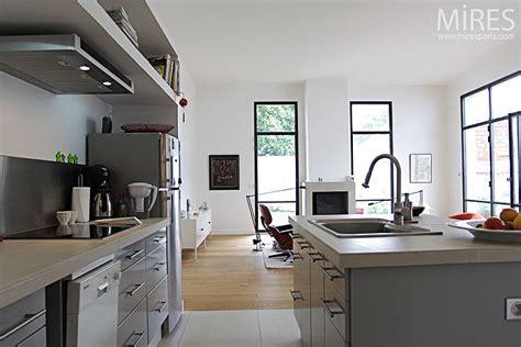 bureau estrade cuisine ouverte moderne c0125 mires