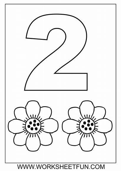 Coloring Number Pages Worksheets Preschool Printable Worksheetfun
