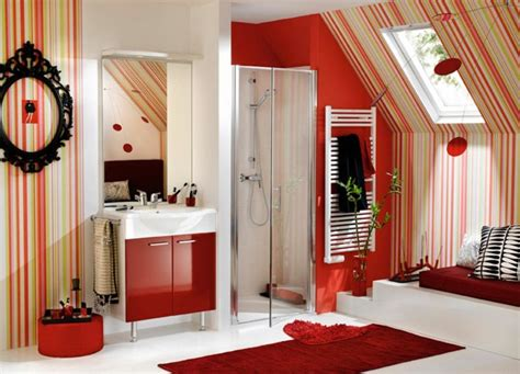 salle de bain rouge la couleur de la passion