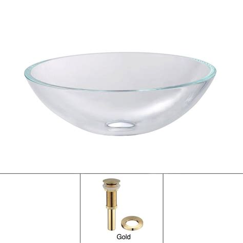 Home Depot Vessel Sink Drain by Kraus Glass Vessel Sink In Clear With Pop Up Drain