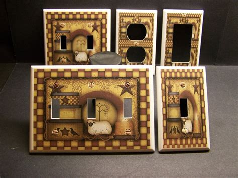 kitchen light switch covers primitive country kitchen decor light switch or 5343
