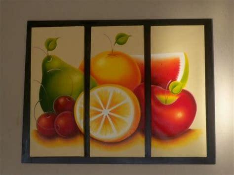 cuadros  la cocina  frutas pinturas cuadros de