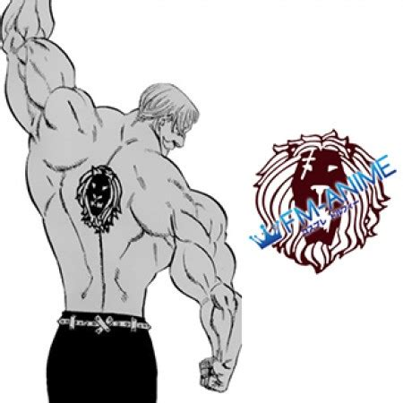 deadly sins escanor lion cosplay tattoo stickers