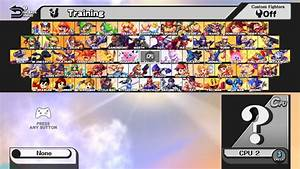 Custom Character Select Screen Mii Fighter Slots Super