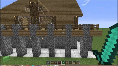 minecraft construction handbook wooden house finishing touches  balconies tutorial youtube