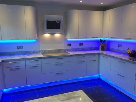 Blue Led Kitchen Lights Blue led kitchen lights democraciaejustica kitchens in colour instyle led workwithnaturefo