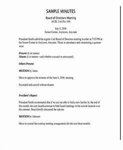 7 nonprofit meeting minutes template free premium With non profit board meeting minutes template