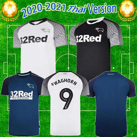 20/21 Derby County Football Club Soccer Jerseys 2020 Home ...