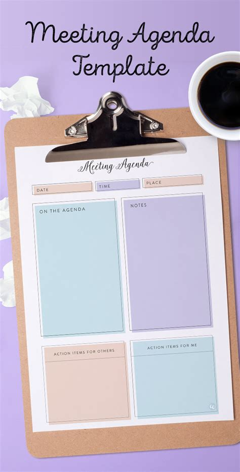 printable meeting agenda template