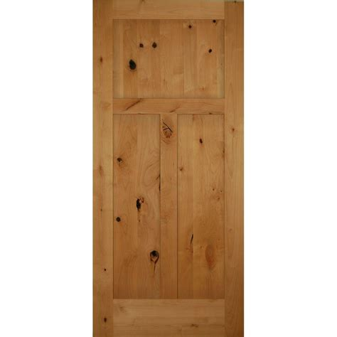 3 panel interior doors home depot 36 in x 80 in 3 panel craftsman solid knotty alder