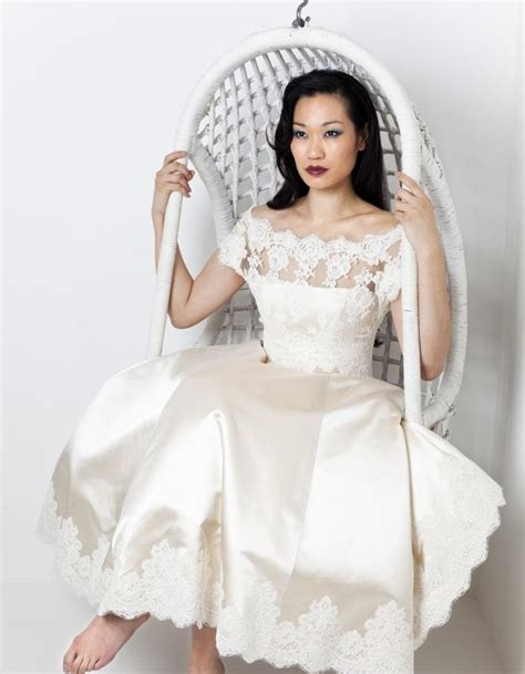ankle wedding dress ankle length wedding dress with lace sang maestro