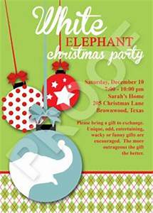 White Elephant party invitation Party time