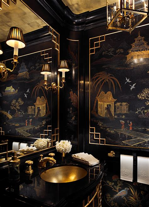 black and gold room decor 8 fabulous powder rooms that will inspire a makeover v i y e t
