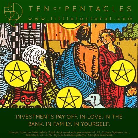List of tarot card meanings here it is….the quick and dirty list of tarot card meanings! °10 of Pentacles Flashcard | Rider waite tarot decks, Love tarot, Tarot card spreads