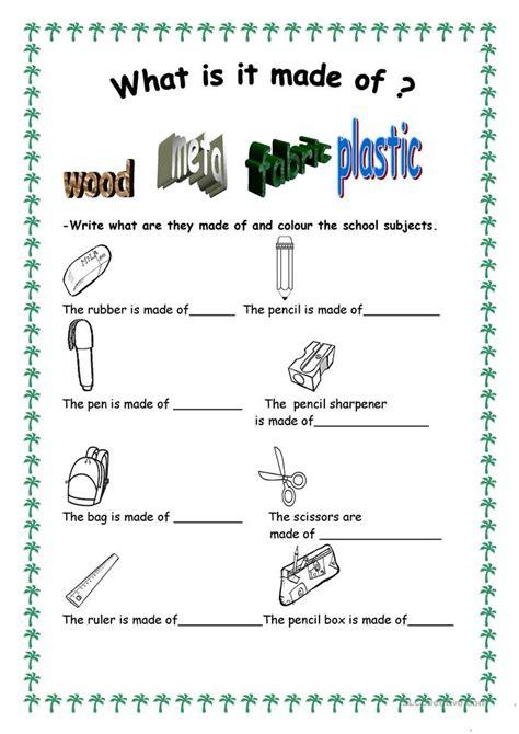 What Is It Made Of? Worksheet  Free Esl Printable Worksheets Made By Teachers