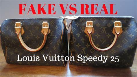 fake  real louis vuitton monogram speedy  handbag comparison  authentication youtube