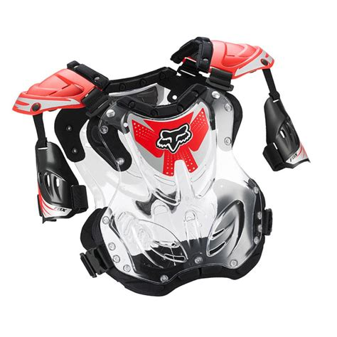 fox motocross chest protector fox racing new mx youth r3 clear red chest protector