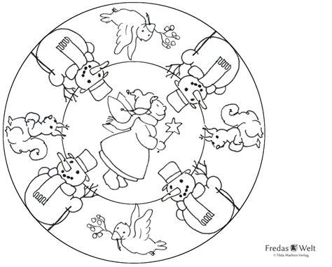 Ausmalbilder Weihnachten Mandala Kostenlos