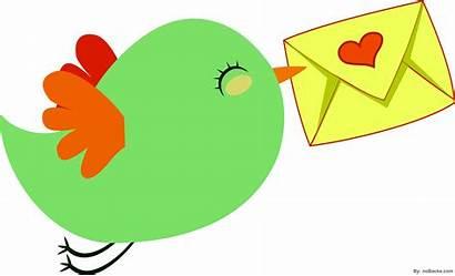 Bird Clipart Flying Birds Outline Clip Letter
