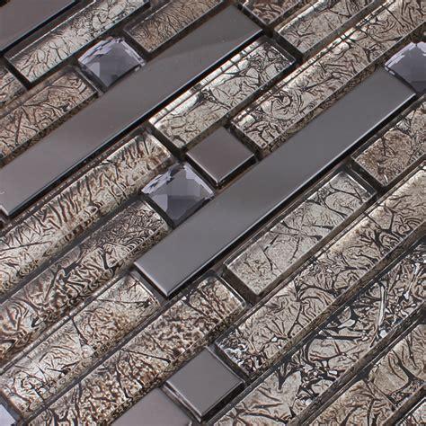 wholesale metallic backsplash tiles brown  stainless