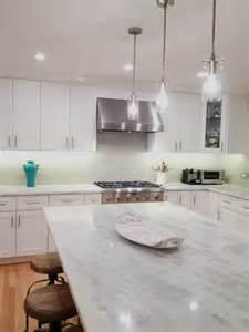 white kitchen subway tile backsplash quartzite countertop kitchenartistic kitchen