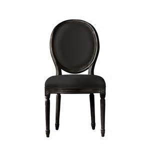vintage louis antique black side chair