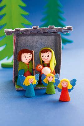 krippe basteln kinder weihnachtskrippe basteln aus filz familie de