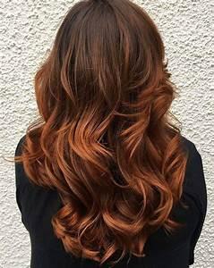 Ombré Hair Marron Caramel : 33 hottest copper balayage ideas for 2017 b a l a y a g ~ Farleysfitness.com Idées de Décoration