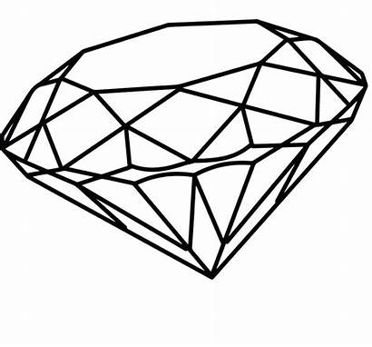 Diamond Coloring Diamante Drawing Desenho Diamonds Clipart