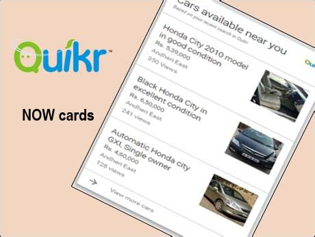 indian web classified ad leader quikr embraces google
