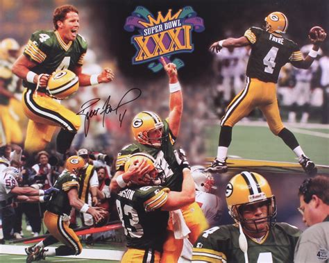 Brett Favre Signed Packers Super Bowl Xxxi 16x20 Photo