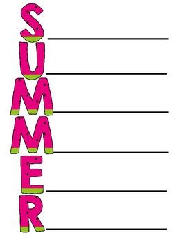 summer acrostic poem creative writing for summer by lisamillerphotos