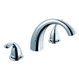 glacier bay builders 2 handle deck mount tub faucet in chrome 461 5001 the home depot