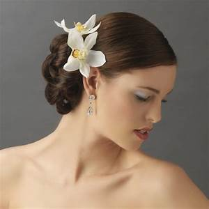Orchid Floral Hair Clip Pin Elegant Bridal Hair