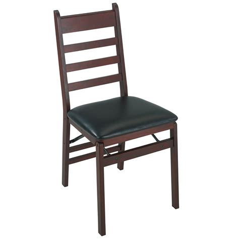 cosco home and office woodcrest wood folding chair w vinyl