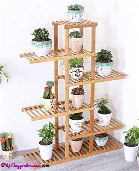 model rak bunga anggrek besi kayu