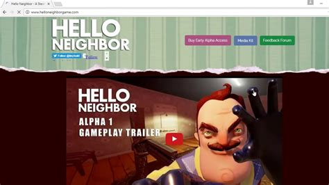 how to hello neighbor free alpa demo