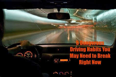 5 Dangerous Driving Habits You May Need To Break Right Now
