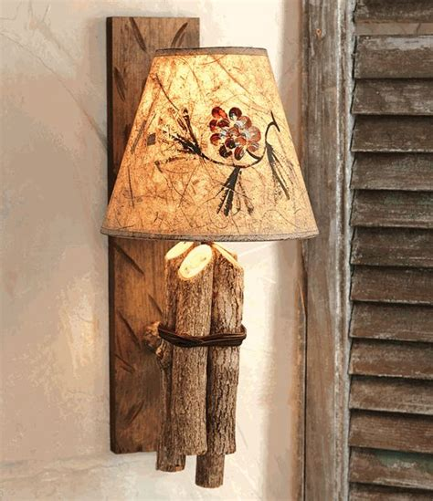 twig wall l w pinecone shade a prim log cabin diy