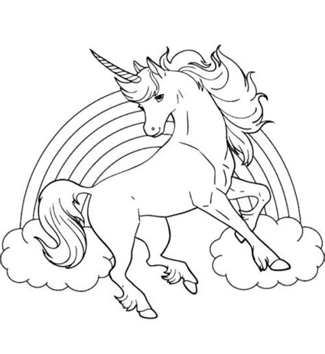 unicorn horse  rainbow coloring page coloring pages